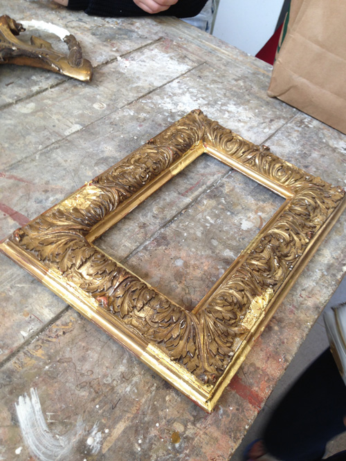 Parisian crafts - gold frame