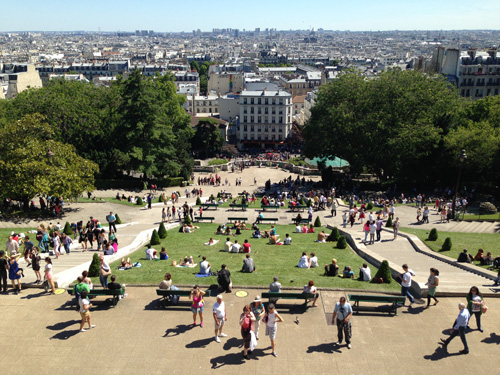 Montmartre view from the top