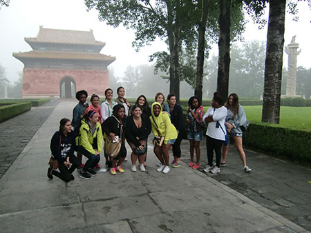 group at pagoda