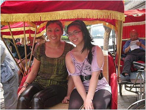 K  Institutional Advancement Photos Blogs Study Abroad China 2011 rickshaw