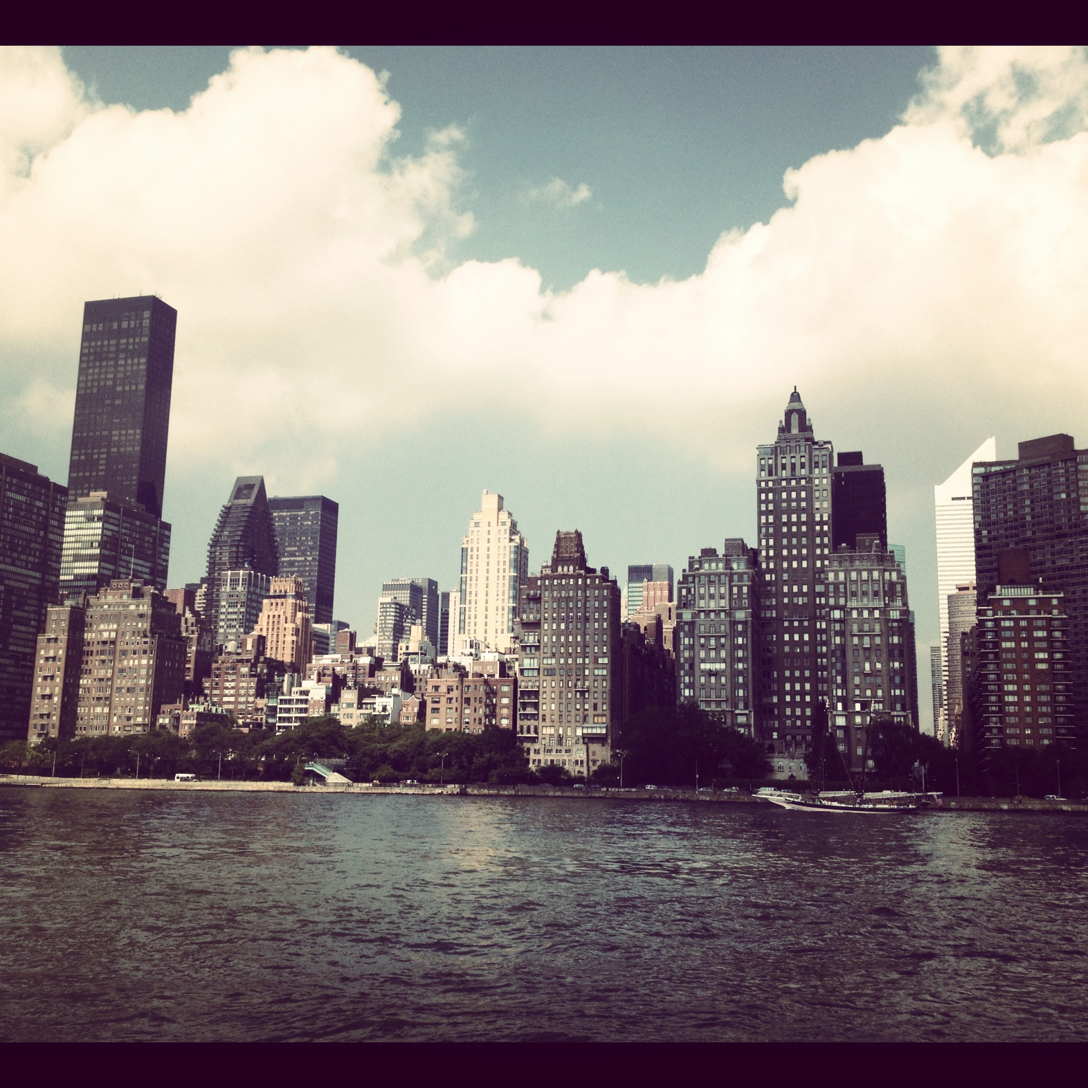 The view from Roosevelt Island