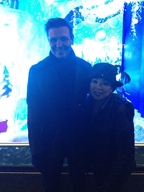 Prof. Olszewski and Marjorie Lee Woo.
