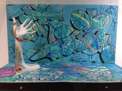 Erin Meade - graffiti jewelry