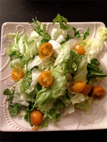 Make your own salad instead of eating out