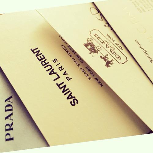 Saint Laurent Paris card