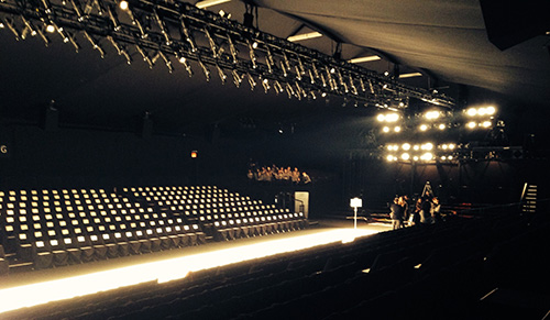 empty fashion show