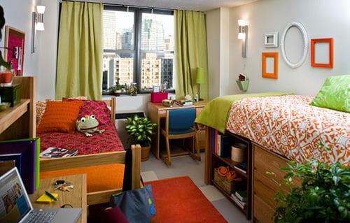 LIM College dorm room