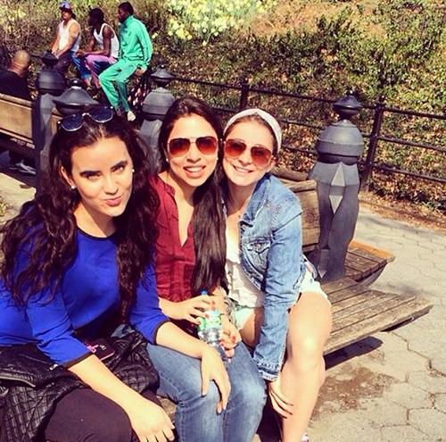 3 girls on bench