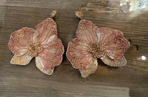 Deepa Gurnani Orchid Earrings