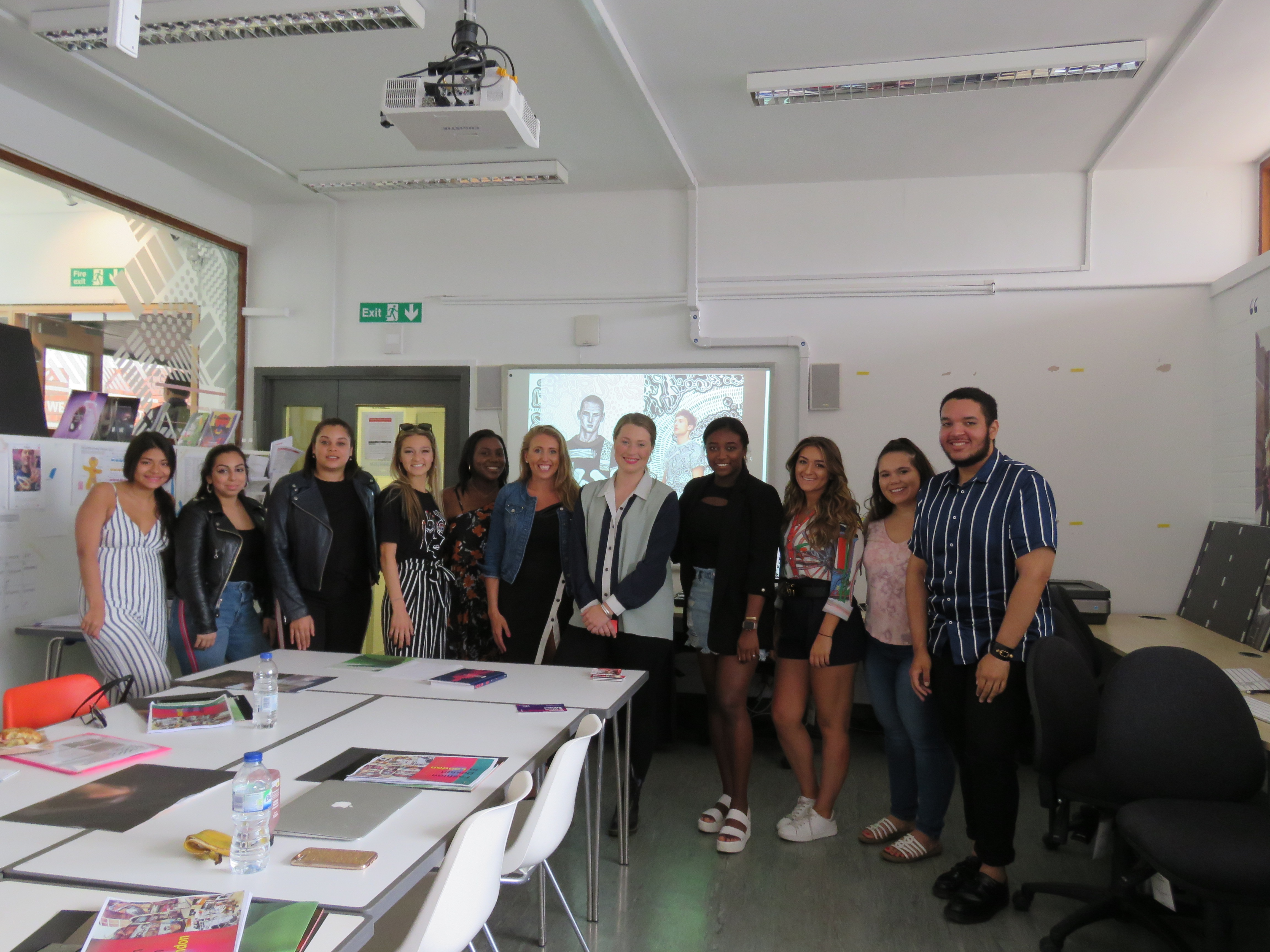 IMG_0650-Students with Rachel James at UCA