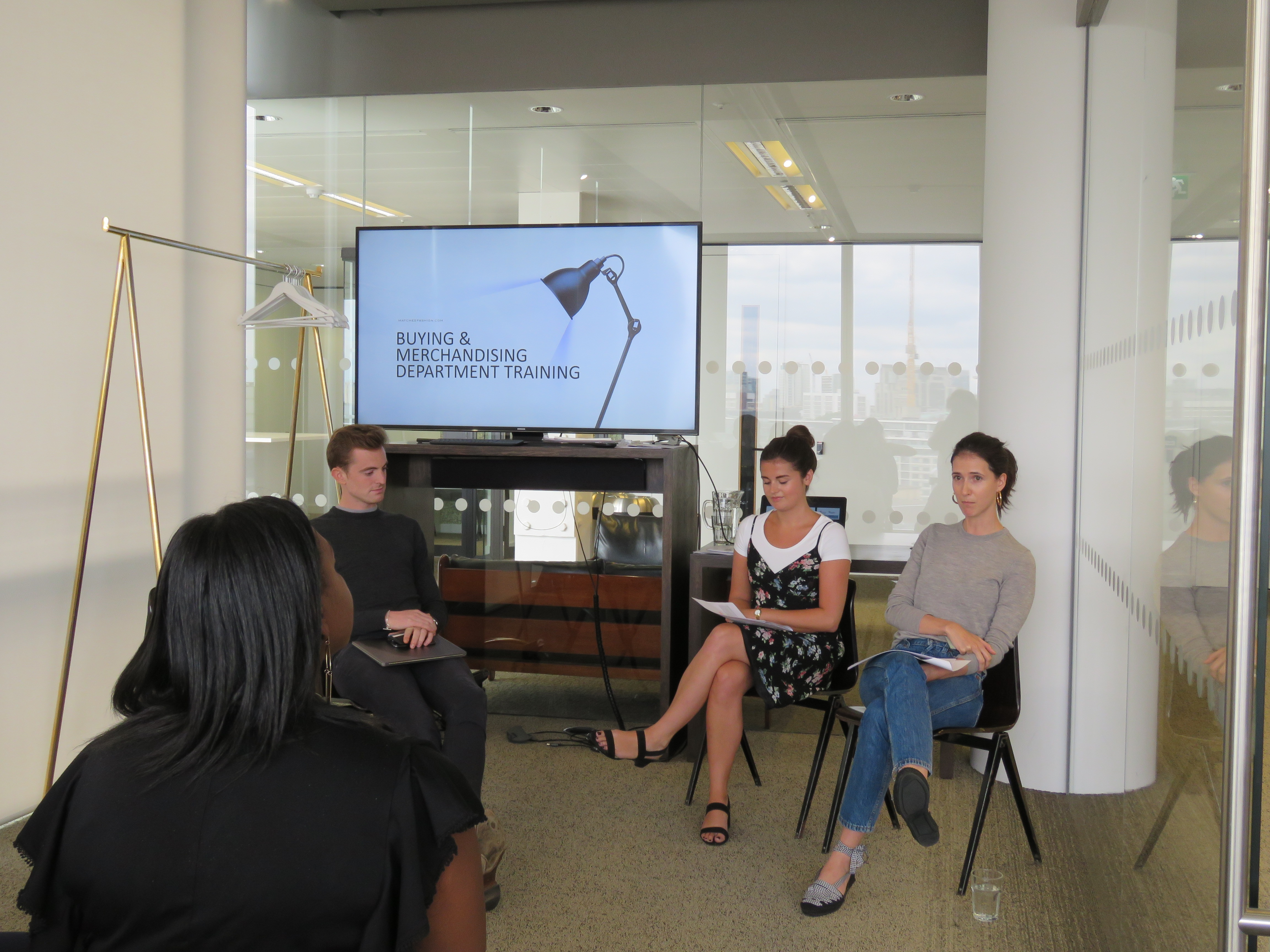 Matchesfashion buyers and merchandisers talking to students