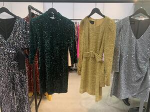 Metallic tops at the Coterie trade show at Javits Center.