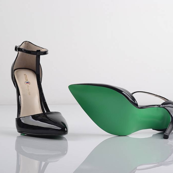 "The ""Aubry"" T-Straps Eco-Pumps by Belle Angel, founder and designer of KTYLER Beverly Hills"
