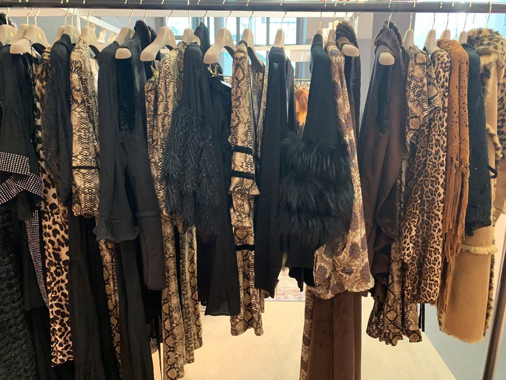 Dresses at the Coterie trade show at Javits Center